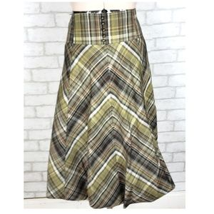 Tapemeasure Anthro Bubble Tartan Hi Waist Skirt 10
